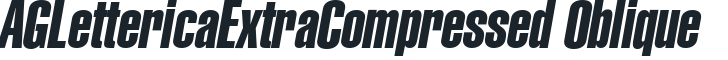 Название Шрифта: AGLettericaExtraCompressed Oblique
