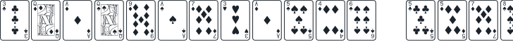 Font Name: PlayingCards Regular